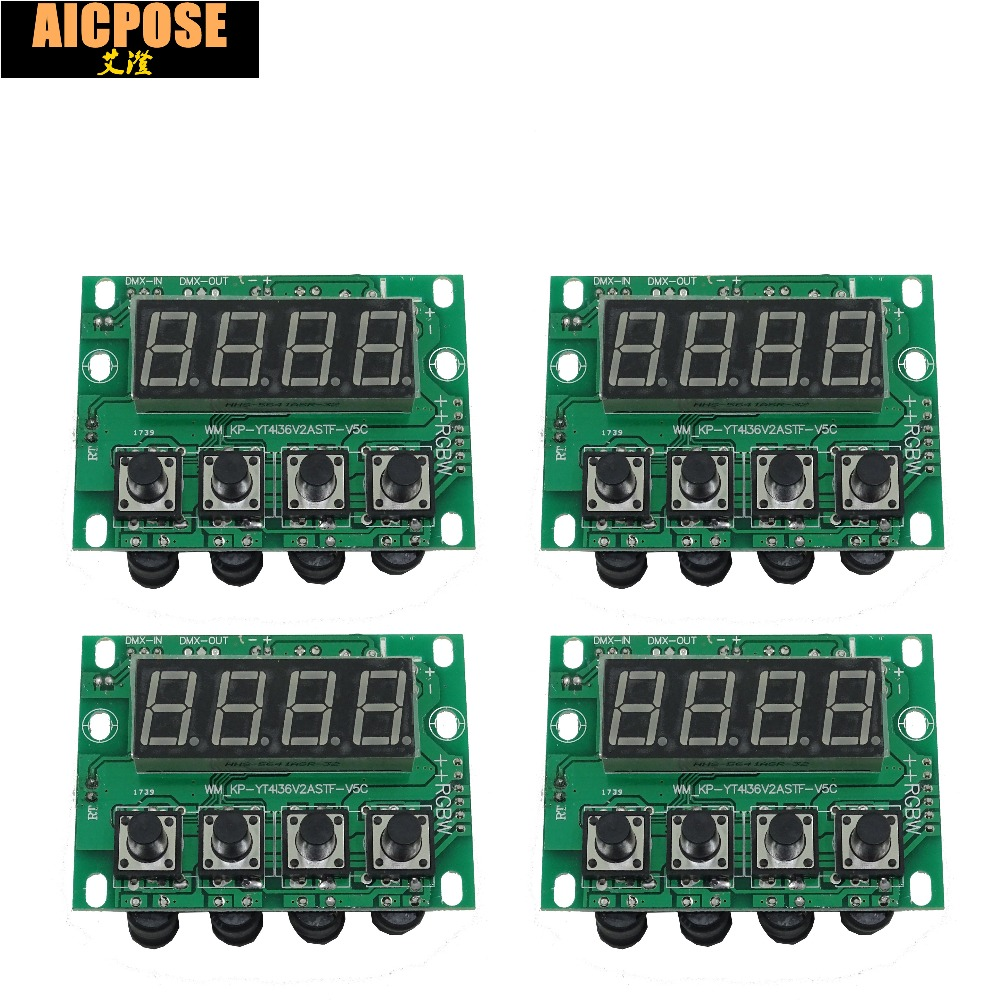 4units 54x3w 18x12w 24x12w 12x12w LED PAR Motherboard Voltage 12-36V Par Led Rgbw 4in1 Constant Current Motherboard 4/8 Channel