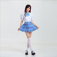 Ücretsiz Kargo Sıcak Satış Yeni Moda Sevimli Kız Okul Üniformaları Bayanlar Tarzı Etek Anime Oyunu LoveLive Cosplay Kostümleri S-XL