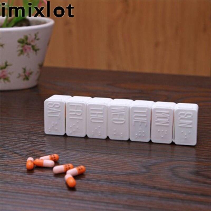Imixlot белый Цвет 12 сетки таблетки Дела контейнер 7 дней легко носить с собой Дисплей Организатор Коробка для хранения для путешествий
