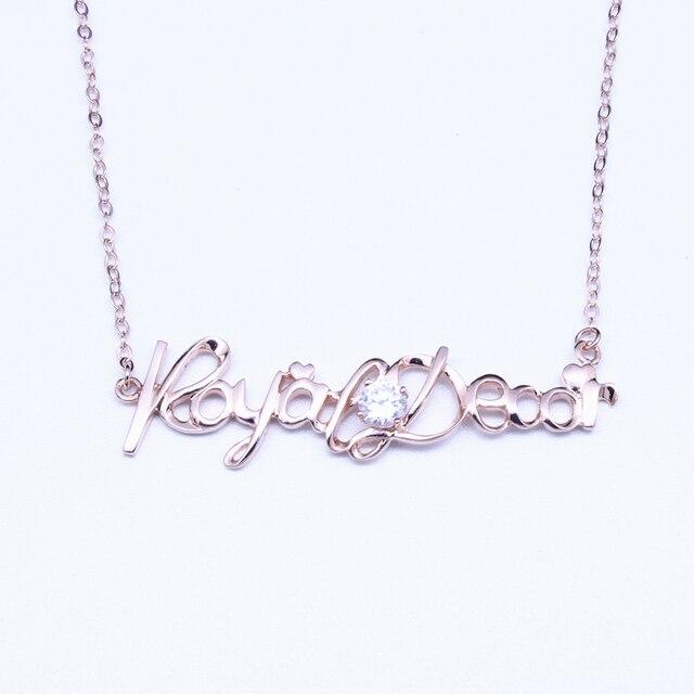 1914439f47e9 Carta Collar Colgante con Zirconia Verdadera Plata de Ley 925 Para Las  Mujeres de Moda Genuino