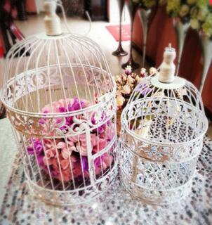 3 pcs iron birdcages S+M+L for wedding decoration