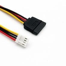 10 adet SATA 15 Pin Dişi 4 Pin Disket FDD Dişi Jack Güç Dönüştürücü Adaptör kablo kordonu 20 cm