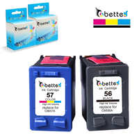 Free Shipping Inkjet Printer Ink Cartridge For Hp 56 57 C6656A C6657A HP Deskjet F4140 F4180