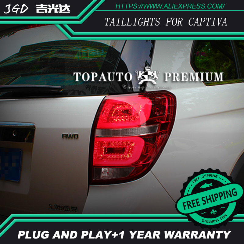 Car Styling tail lights for Chevrolet Captiva 2008-2015 taillights LED Tail Lamp rear trunk lamp cover drl+signal+brake+reverse car rear trunk security shield cargo cover for jeep compass 2007 2008 2009 2010 2011 high qualit auto accessories
