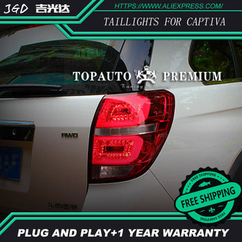 Car Styling tail lights for Chevrolet Captiva 2008-2015 taillights LED Tail Lamp rear trunk lamp cover drl+signal+brake+reverse