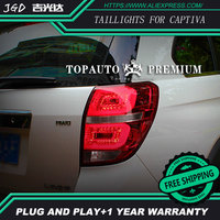 Car Styling tail lights for Chevrolet Captiva 2008 2015 taillights LED Tail Lamp rear trunk lamp cover drl+signal+brake+reverse