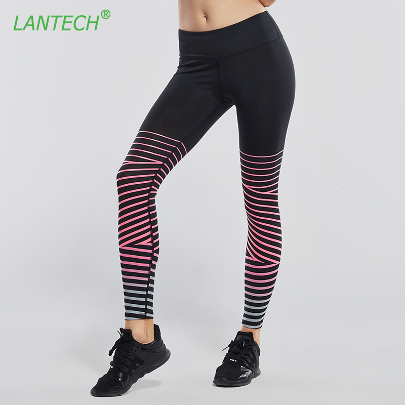 LANTECH Women Pants Sports Yoga Leggings Sportswear Pocket Running Fitness Exercise Reflective Run Gym Compression Pants Clothes