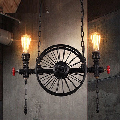 Edison Loft Style Vintage Pendant Light Fixtures RH Industrial Metal Water Pipe Hanging Lamp Luminaire Lamparas Colgantes retro loft style edison industrial vintage pendant lights hanging lamp fixtures for bar home living room lamparas colgantes