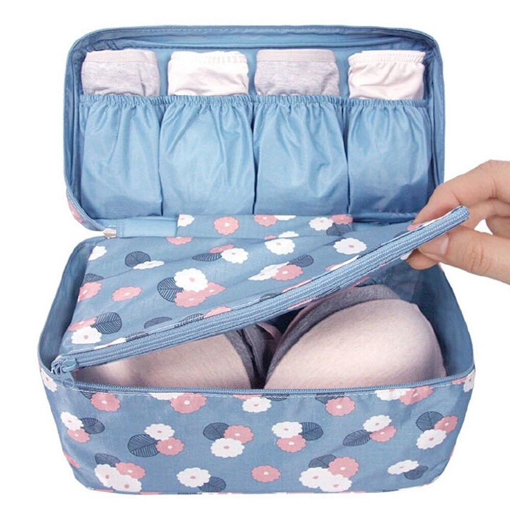 Мода водонепроникний квітка портативний подорожі бюстгальтер нижньої білизни жіноча білизна організатор сумка косметичний макіяж туалетних мити зберігання випадку
