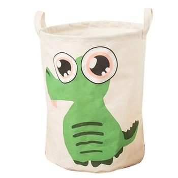 Hoomall 1PC Home Sundries Toys Storage Organizer Portable Cloth Dirty Clothes Basket  Cute Cartoon Crocodile Laundry Basket