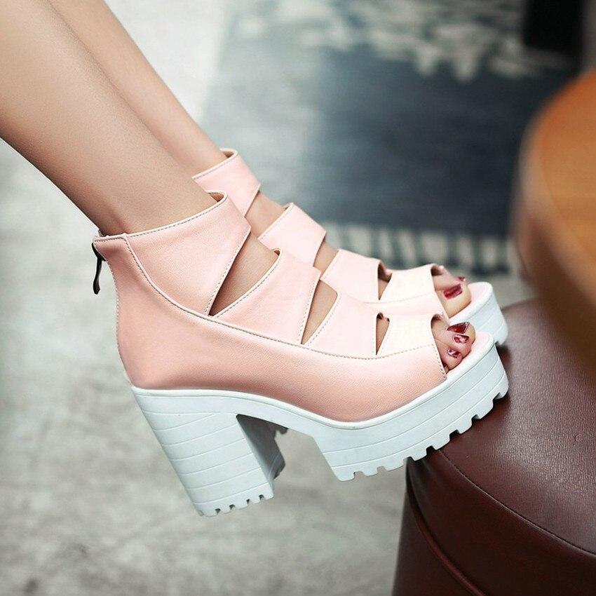 Talons Hauts Peep 41 rose 42 Gladiateur Toe 34 Taille À forme Pompes blanc Femmes La Plus Été Chaussures 43 40 Femme Sandales Noir Plate qUw7BEIwnH
