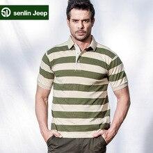 Men s T shirt Lapel T shirt 2015 summer forest Jeep Men Men s T shirt
