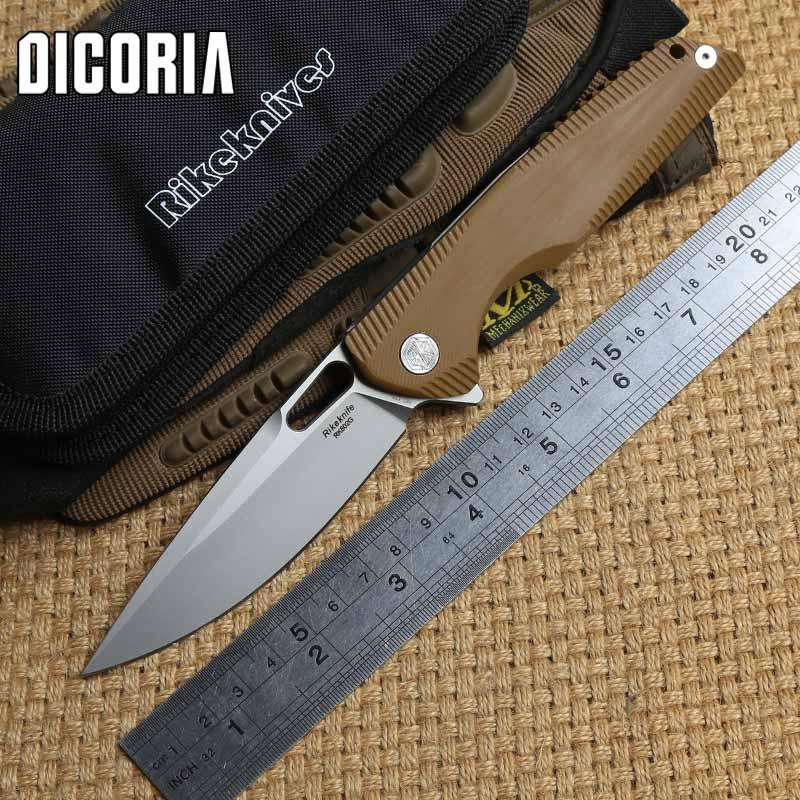 DICORIA RIKE 802G tactique couteau pliant roulement à billes 154 CM lame G10 + Titane chasse survie en plein air couteaux de poche EDC outils