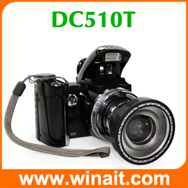High quality hot selling 16MP SLR digital camera DC-510T 2.4'' TFT display rechargeable llithium battery camera free shipping