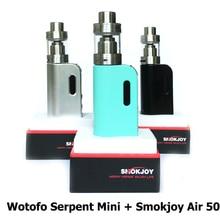เดิมSmokjoyอากาศ50สมัยกล่องที่มีWotofoงูมินิRTAอุปทานกระแสหลักมินิมดชุดบุหรี่อิเล็กทรอนิกส์VS evodล้านMM