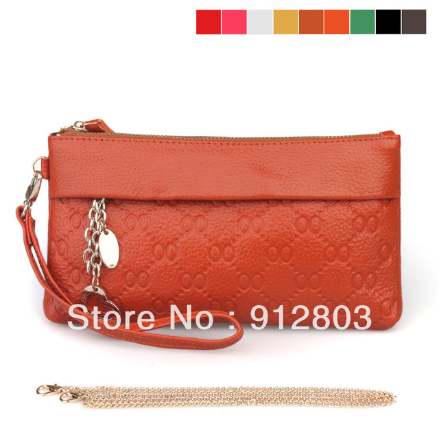 [ANYTIME] Factory Wholesale - Women's Genuine Leather Cluth Handbag Female Fashion Vintage Clutch Evening bag - Free Shipping