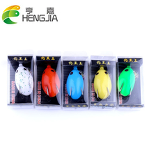 5 Boxes/lot Frog Fishing Lures 5.5cm 12g Mini Egg Shape Ray Frog Fishing Bait Iscas Artificiais Pesca Fishing Tackle HJ113