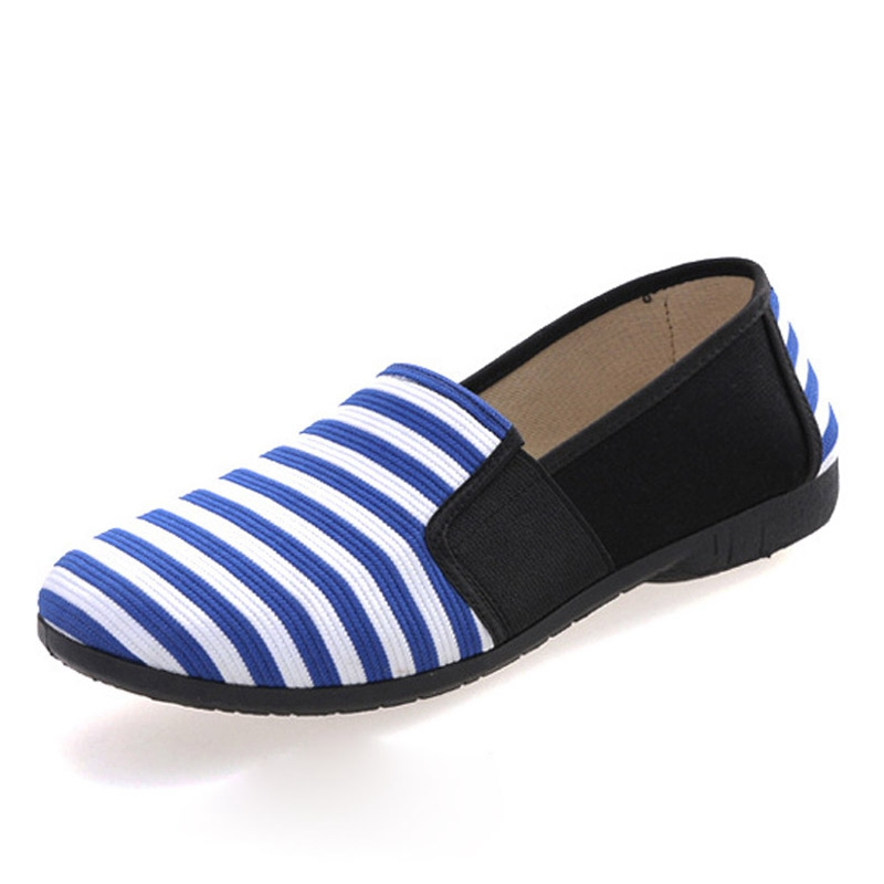 Casual Stripe Loafers 2016 Spring Comfortable Women Shoes Slip On Patchwork Flats Round Toe Mother Canvas Shoes Woman XWD2912 xiaying smile woman flats women brogue shoes loafers spring summer casual slip on round toe rubber new black white women shoes