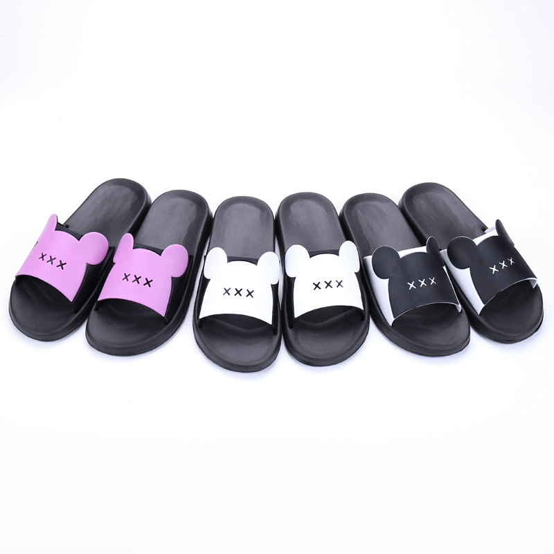 Plus size 2018 woman slippers bathroom anti-slip unisex beach summer slippers comfortable flat shoes woman indoor slippers 6-3CF 201818 woman slippers caf