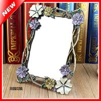 Wholesale Vanity Makeup Mirror Retro Table Standing Mirror In Bedroom Dressing Framed Mirror Beauty Decorative Cosmetic Mirror