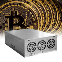 Crypto Coin Open Air Mining Frame Rig Graphics Case ATX Fit 6/8 GPU Ethereum ETH ETC ZEC XMR Magnalium Alloy 5 Fans High Quality