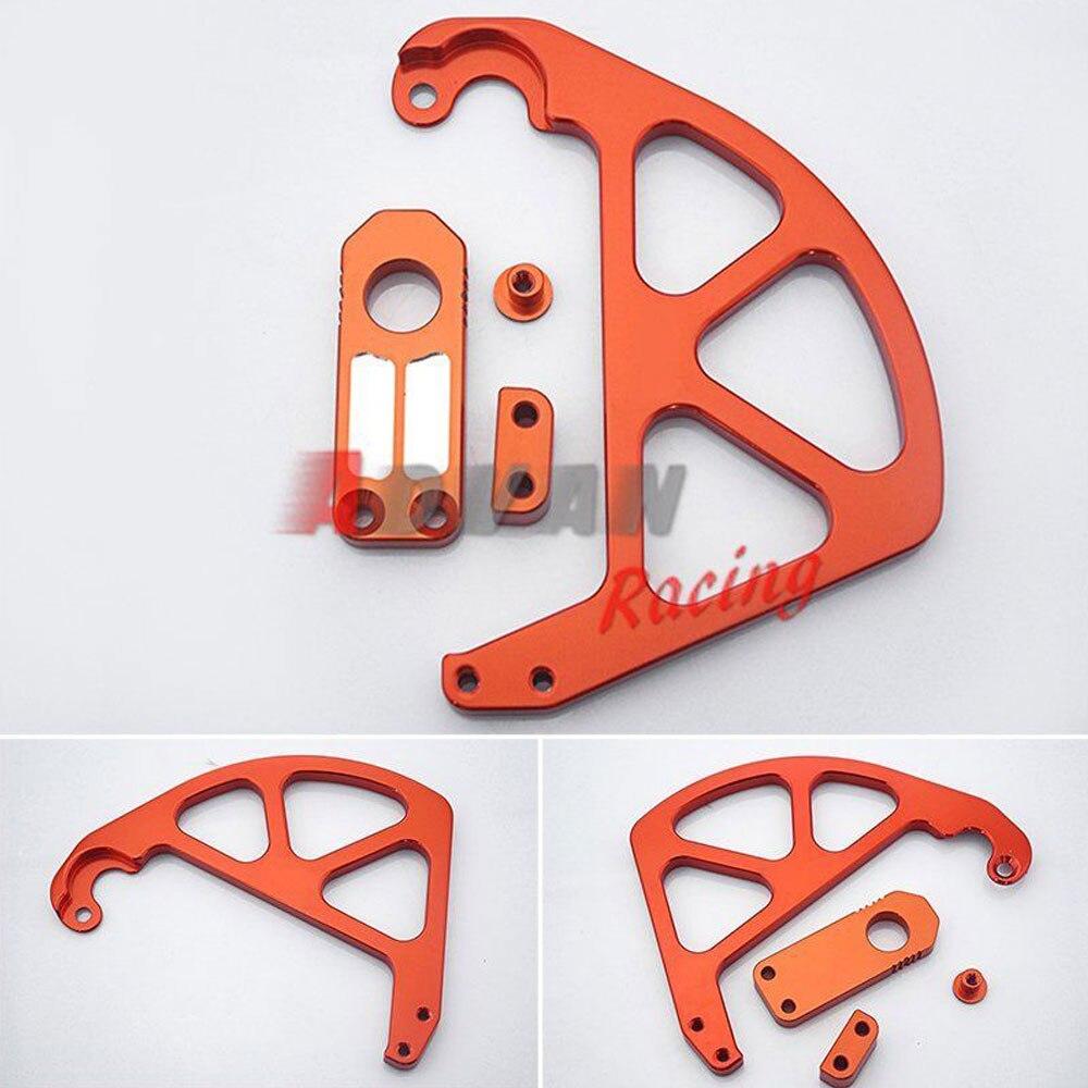 БЕСПЛАТНАЯ ДОСТАВКА Алюминиевый задний Тормозной диск крышки протектор слайдер, пригодный для KTM 85/С 350/фрирайд