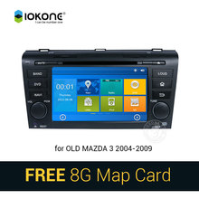 IOKONE Car DVD Video Player GPS navi Stereo multimedia for Old Mazda 3 2004-2009 With Bluetooth SWC iPOD 8G SD card