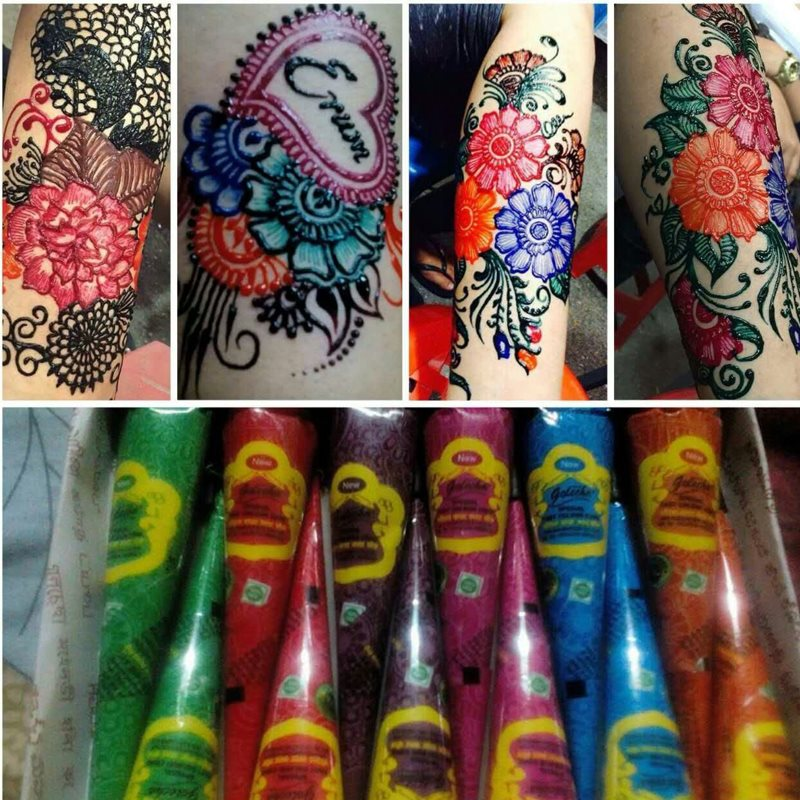 Henna Tattoo Paste Cost: New Nine Color Henna Cones Indian Henna Tattoo Paste For
