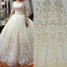 Off white/pure white/black Fashionable bridal dress fabric 130cm width guipure lace selling by yard