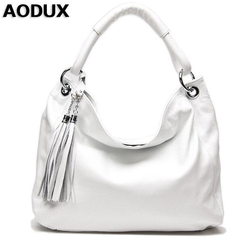 Aodux черный, белый цвет темно-синий женский Пояса из натуральной кожи Для женщин Сумки на плечо Crossbody сумка Сумки дизайнер сумка