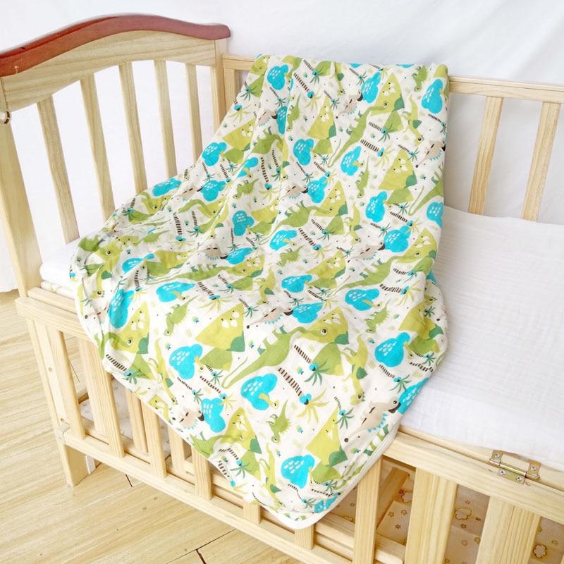 Tykke Muslin Baby Tæpper 2-lagers Bomuld Børne Billebetræk Konvolut Til Nyfødte Babyseng Sovesofa Swaddle 110 * 140cm