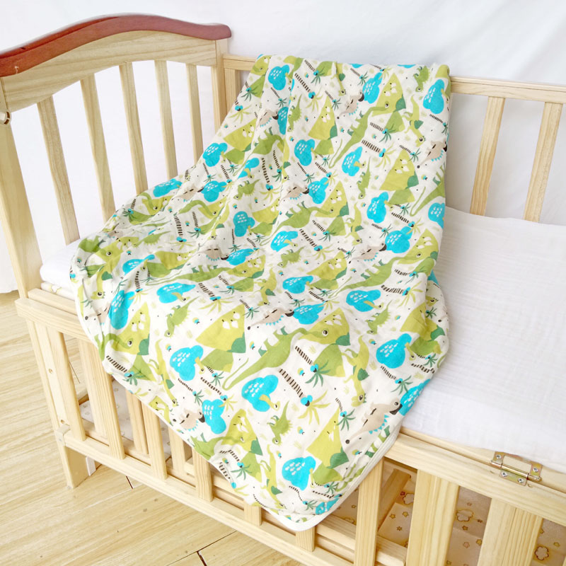 Thick Muslin Baby Blankets 2layers Kapas Kanak-kanak Kereta-meliputi Sampul Untuk Bayi Tidur Bayi Tidur Sleepsack Swaddle 110 * 140cm