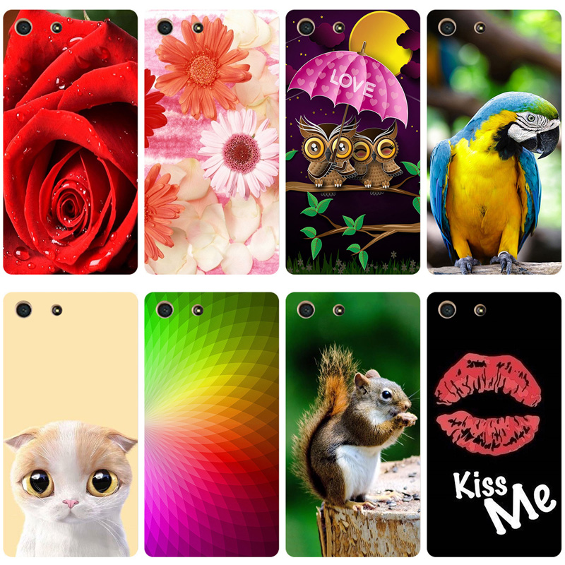 For Sony M5 Phone Case For Sony Xperia M5 Cute Case Silicone TPU Animals For Sony Xperia M5 Dual E5633 E5603 Cover Coque Capa