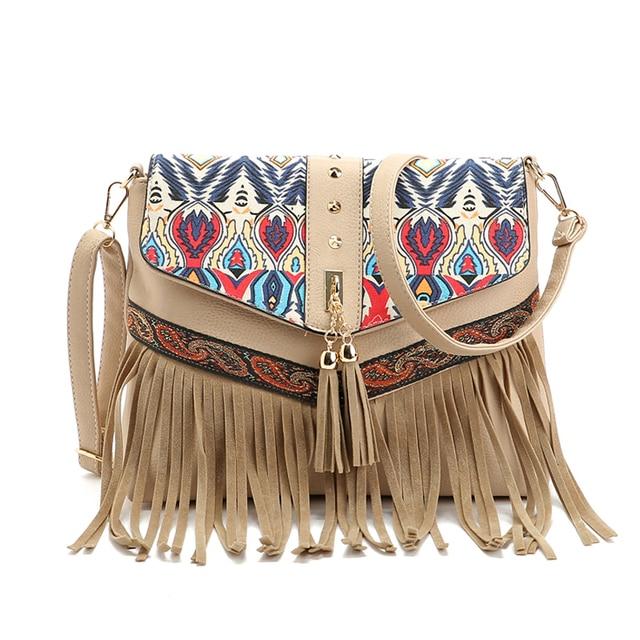 2017 Hot Sale Fashion Women Lady Fringe Weave Tassel Shoulder Messenger Cross Body Satchel Bag Sac A Main Bolsa Feminina Bags