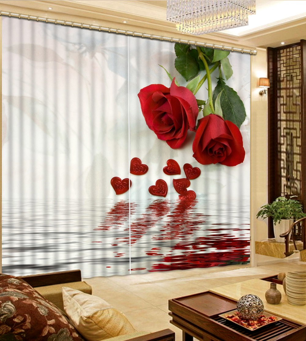 Home Decor Living Room Natural Art Red Rose Flower Custom