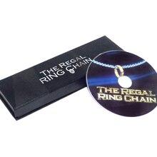 Королевская цепь колец(DVD+ трюк)-трюк, карточная магия, фокусы, реквизит комедии, ментальная магия