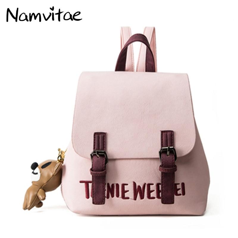 Namvitae Для женщин рюкзак небольшой Размеры PU кожаные модные школы Подросток Grils сумка Mochila Escolar женский рюкзак