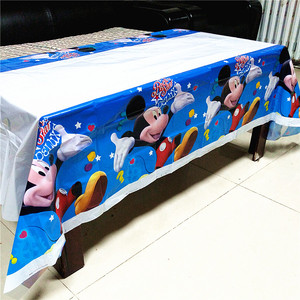 Image 1 - 108cm*180cm Kids Birthday Party Supplies Decoration Sofia Princess Minnie Mickey Moana TableCloth Baby gift