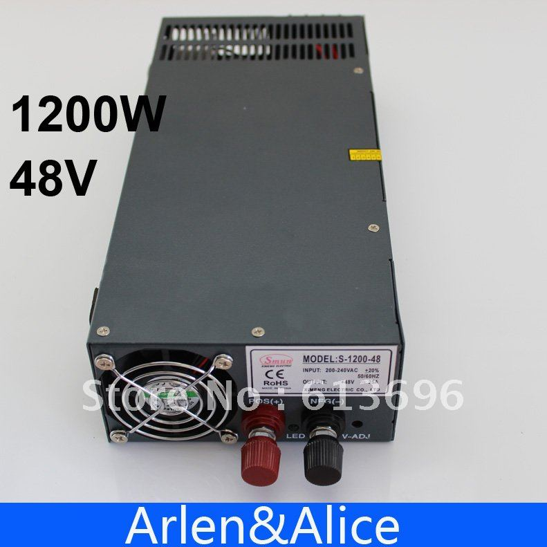 1200W 48V adjustable 220V input Single Output Switching power supply for LED Strip light AC to DC ac 85v 265v to 20 38v 600ma power supply driver adapter for led light lamp