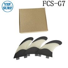Surfing FCS G7 Surfboard Fins Bicolor and Black Honeycomb Fiberglass Surf Board Fin G7 Quilhas Surf FCS Free Shipping цена
