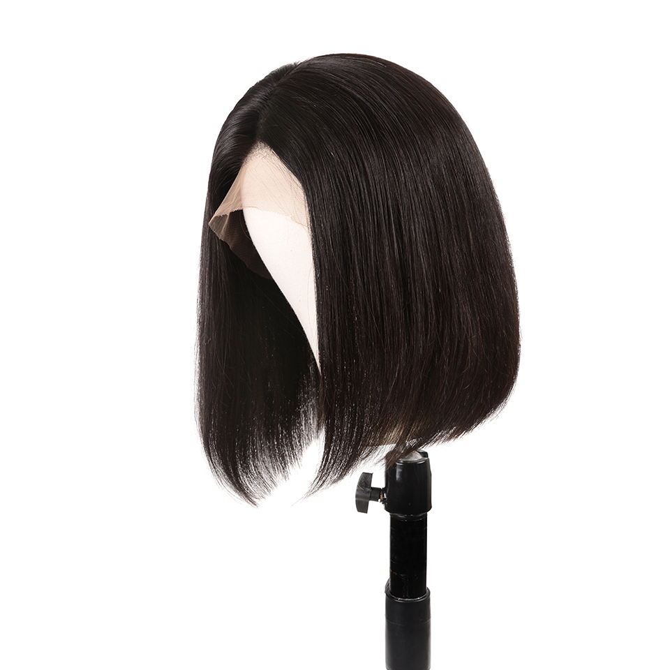 Lace Front Human Hair Wigs Straight Peruvian Wig Bob Lace Front With Closure Short Glueless Lace Front Human Hair Wigs