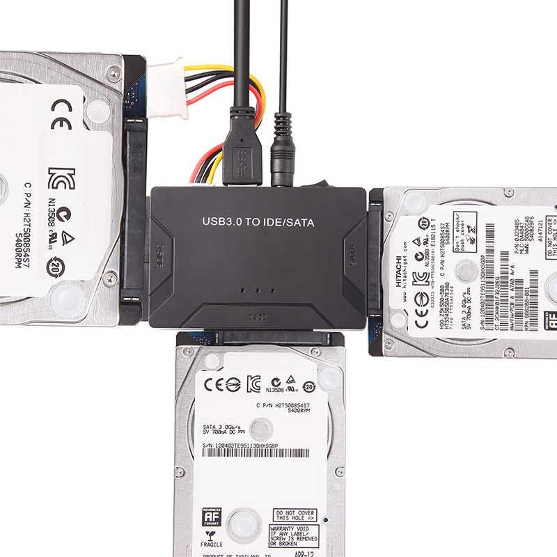 """Adaptador de datos USB 3,0 a SATA IDE ATA USB3.0 2,0 SATA sata e ide/sata convertidor 3 en 1 para ordenador portátil 2,5 3,5 """"HDD Disco Duro dock"""