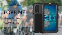 P30 Lite Love Mei Powerful Aluminum Metal Tempered Glass 360 Full Cover Shockproof Armor case for Huawei P30 Pro Life Waterproof