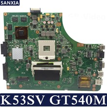 цена на KEFU K53SV Laptop motherboard for ASUS K53SM K53SC K53SJ P53SJ A53SJ original mainboard REV2.1/2.4/3.0/3.1 GT540M