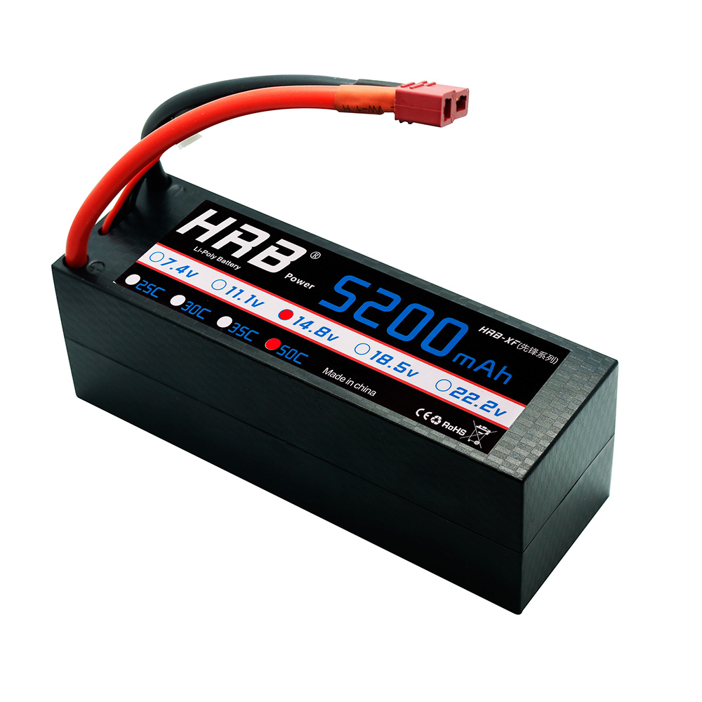 HRB Lipo 4s Battery 14.8V 5200mAh 50C MAX 100C Hard Case For RC Battery Drone AKKU Helicopter Quadcopter Boat Airplane Car hrb rc akku lipo 3s battery 11 1v 5500mah 50c max 100c drone bateria for rc helicopter car boat quadcopter airplane uav fpv