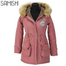 Autumn Parkas Winter Jacket Women Coats Female Outerwear Casual Long Down Cotton Wadded Lady Woman Fashion Warm