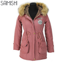 Thickening Parkas Winter Jacket Women Coats Female Outerwear Plus Size Casual Long Down Cotton Wadded Lady