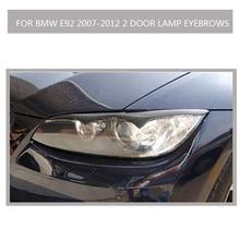 E92 fibra de carbono Para bmw E92 2007-2012 2 porta de Alta qualidade todos os lábios sobrancelhas sobrancelha lâmpada Do farol Do Carro