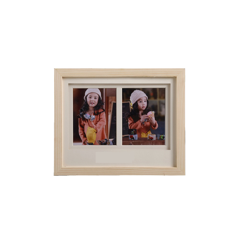 1/2/4 Grid Wood Photo Frame Rectangle Frame Desk Picture Frames ...
