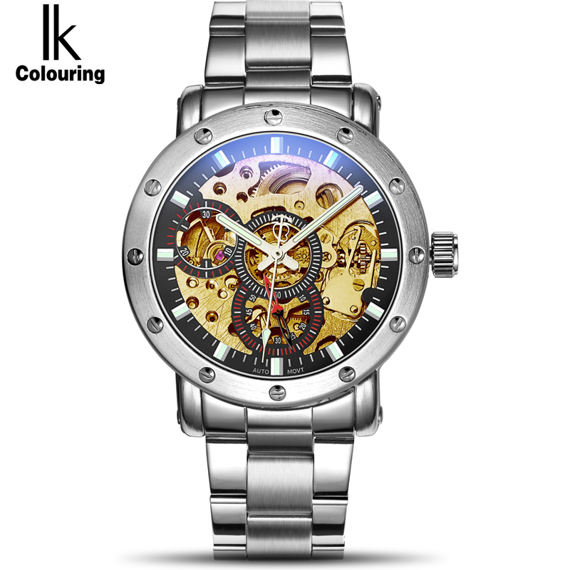 цены Genuine IK Horloges Mannen Men's Famous Watches Brand Fashion Tourbillon Auto Mechanical Watches Wristwatch Gift Box Free Ship